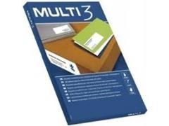 MULTI3 Etiqueta i/l/c adh.perm.c/recto a4 c-100 (97x67,7mm 800unds)