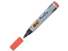 BIC Rotulador permanent marker punta redonda ROJO