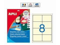 APLI Etiqueta i/l/c adh.perm.c/recto a4 (97x67,7mm 160unds) crema