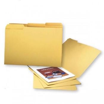 GIO Pack 50 subcarpetas pestaña derecha folio amarillo caña