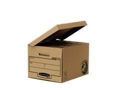 Pack 10 Contenedor archivo R-kive con tapa fija 378x287x545mm marrón