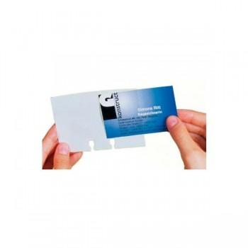 Juego de ampliación para visifix flip 2417 40 Fundas transparentes tarjetas de visita