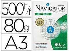 Pack 500h papel navigator 80gr A3 blanco