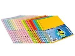 Pack 100h papel color 80gr A4 azul oceano