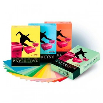 Pack 100h papel color 80gr A4 azafran