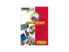 Pack 10h papel fotografico polyester Adhesivo 210X297mm A4