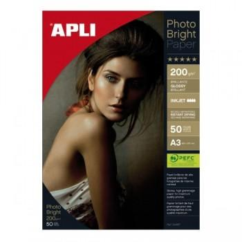 APLI Din A-3 photo bright 200gr. 50 hojas