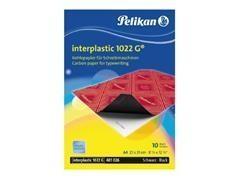 Pack 10 hojas de papel carbón Pelikan plenticopy 200h escritura manual A4 azul
