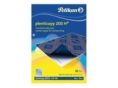 Pack 10 hojas de papel carbón Pelikan interplastic 1022G escritura a máquina 200h A4 negro