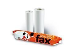 Rollo papel fax 21cmx15m mandril 12mm