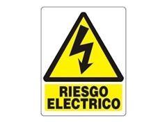 "F7I Letrero 21x29 \""PELIGRO ELECTRICO\"""