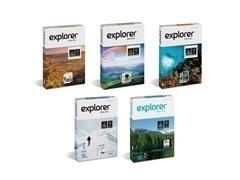 Paquete 500h papel explorer idefinition 100gr A4