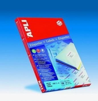 APLI Etiqueta i/l/c adh.perm.c/recto a4 c-500 105x48 mm 6000unds