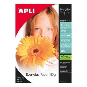 APLI Din A-4 inkjet glossy 180gr. 100hojas everyday
