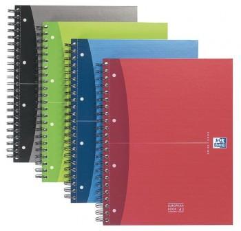OXFORD Cuaderno tapa dura A4 c-5mm con separadores 120hojas
