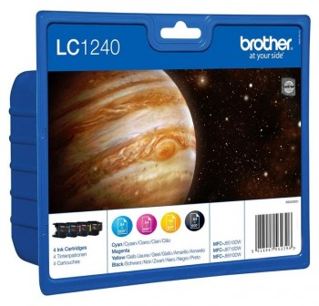 BROTHER Pack de cartuchos inkjet LC-1240* colores original (C/M/A) 600PAG