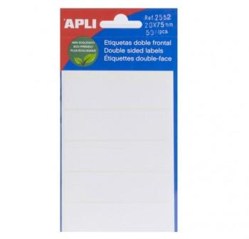 APLI Etiqueta adh.blanc.escr.man.minibolsa 5 20X75