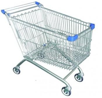 F7I Carro supermercado 80litros con ruedas de goma 840x530x950