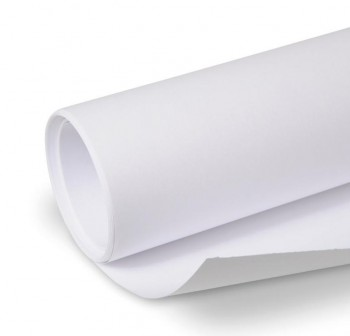 Rollo papel embalaje kraft 1x50m blanco