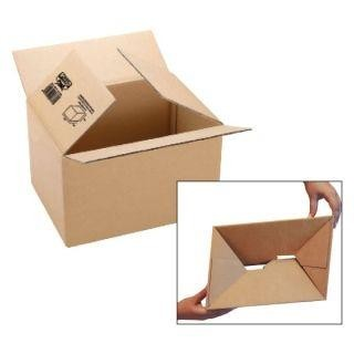 Pack 5 cajas embalaje de cartón Fixo pack automontable canal sencillo 3mm 217x172x110mm