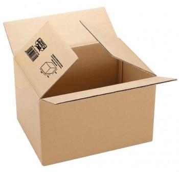 Pack 5 cajas embalaje de cartón Fixo pack automontable canal sencillo 3mm 427x304x250mm