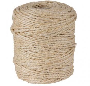 Rollo cuerda de sisal 2 cabos 400gr crudo