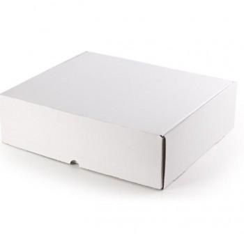 Caja postal blanca  350x220x130mm