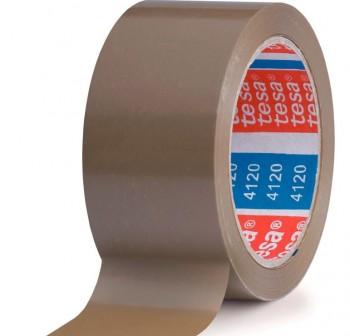 Pack 6 rollos de precinto tesapack PVC 4120 66m x 50mm marrón