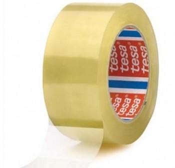Pack 6 rollos de precinto tesapack Extra Fuerte PVC rugoso (etiqueta EAN) 66m x 50mm transparente