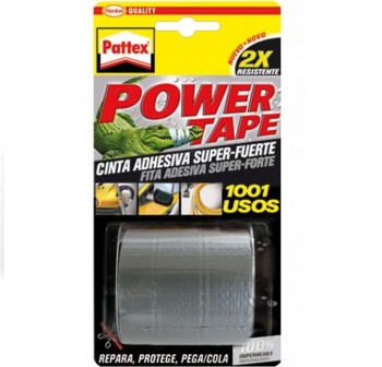 Rollo Cinta adhesiva Pattex power tape 50mmx5m gris
