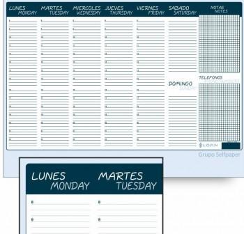 LOAN Talonario planning sobremesa 445x340 90gr. 60hojas