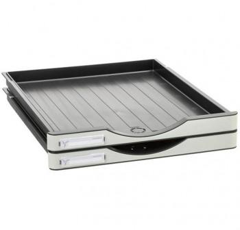 ARCHIVO2000 Pack 2 cajones pequeños para Archivodoc color cajón gris y carcasa gris