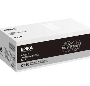 EPSON Toner laser C13S050710 original NEGRO pack de 2(2x2,5k)