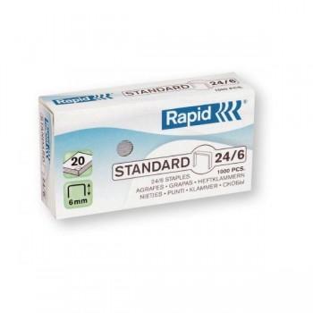 Caja 1000 grapas galvanizadas Rapid 24 6 mm
