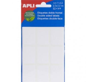 APLI Etiqueta adh.blanc.escr.man.minibolsa 90etiq 22x32