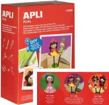 APLI Kit fofucha lapiz caperucita + peterpan