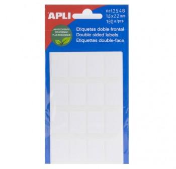 APLI Etiqueta adh.blanc.escr.man.minibolsa 6 16x22 160ud.