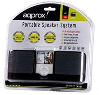 APPROX Altavoces portatiles 2w USB negro
