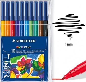 STAEDTLER Rotuladores de color noris club c-10 Tinta antisecado trazo 1,0mm colores surtido