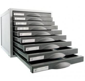 ARCHIVO2000 Módulo 9 cajones Archisystem 8409c gris