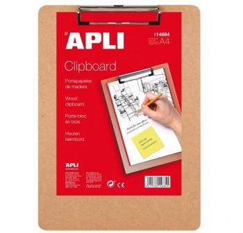 APLI Tablero inventario base plastico A4 gris (clipboard)