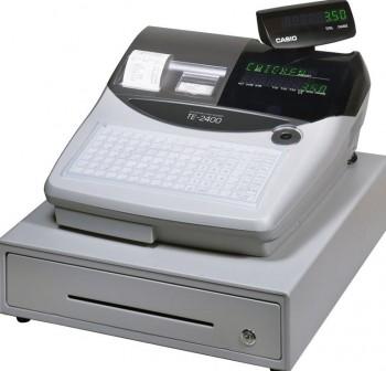 Caja Registradora CASIO TE-2400 Gris / Cajón Grande Gris Mid - TE ECR Professional