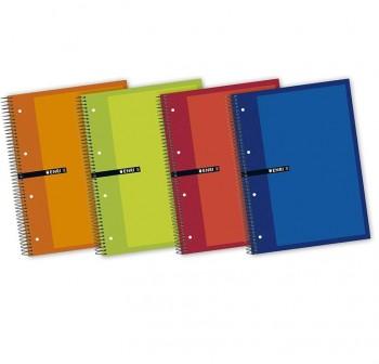 ENRI Cuadernos tapa contracolada A4 160h cuadricula 5x5