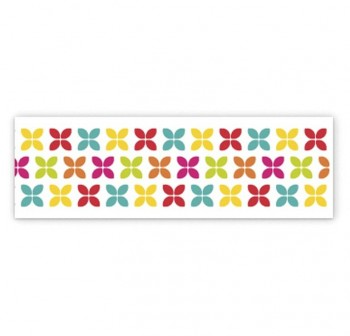 WASHI TAPE 15MMX10M CRUCES COLORES