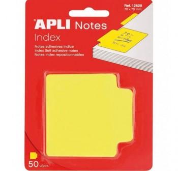 APLI Notas indice 70x70 amarillo