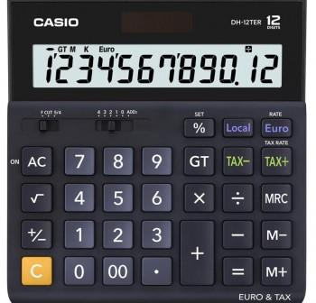 CASIO Calculadora sobremesa DH-12TER (solar)