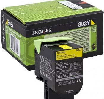 LEXMARK Toner laser 80C20Y0 AMARILLO original 1k