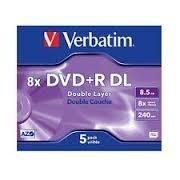 VERBATIM DVD+R DL 8,5Gb/240min. doble capa pack25