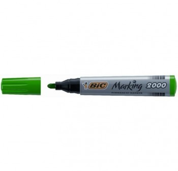BIC Rotulador permanent marker punta redonda VERDE