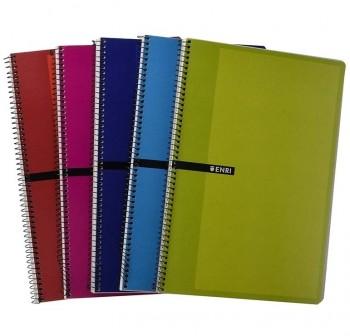ENRI Cuaderno tapa carton 80 hojas cuarto c-4mm
